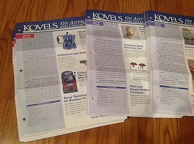 Kovels Antiques & Collectibles Newsletters Lot