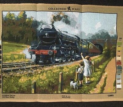 Collection D'Art Tapestry Canvas - The Flying Scotsman Train 12985