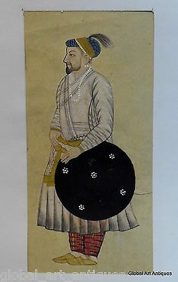 Rare Hand Painted Fine Decorative Collectible Indian Miniature Painting. G77-15