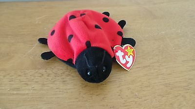 TY LUCKY THE Ladybug 1993 Beanie Baby Multiple Errors PVC Pellets ... fae71bc01a6