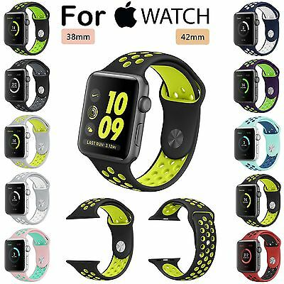 Replacement Silicone Sports Bracelet Strap Wrist Band For Apple Watch Band