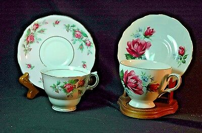 Colclough/ Royal Vale Roses Cups and Saucers -2