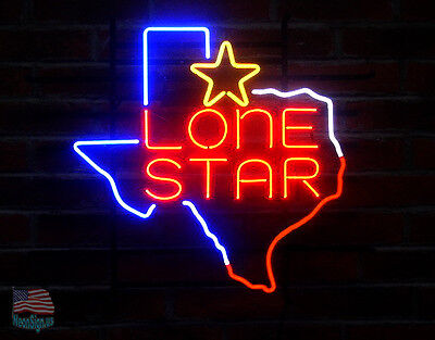 "Texas Lone Star Neon Sign 20""x 17"" From USA"