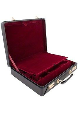 Buffet Prestige Double Clarinet case - Real Leather Brand New Combination lock