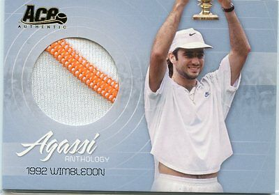2006 Ace Authentic Andre Agassi Anthology 1992 Wimbledon Match Worn Jersey