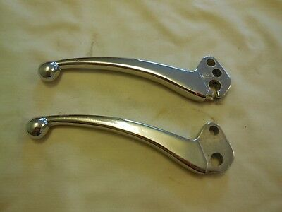 Lambretta  GP PAIR OF CHROME CLUTCH AND HANDLE LEVERS