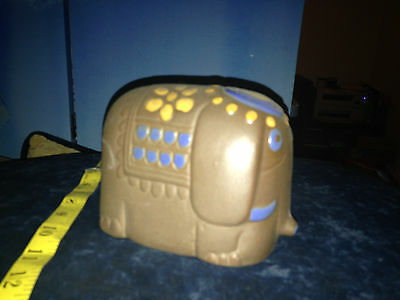 Vintage Japan Made pottery Elephant Piggy Bank Coin Holder still