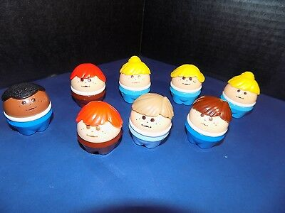 Vintage Little Tikes Toddle Tots Chunky People Lot of 8  Boys & Girls