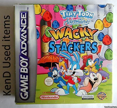 NINTENDO GAMEBOY ADVANCE Wacky Stackers doos box only PAL GAME BOY GBA