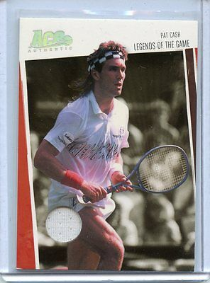 2006 Ace Authentic Legends Of The Game Pat Cash Worn Shirt # 492/500