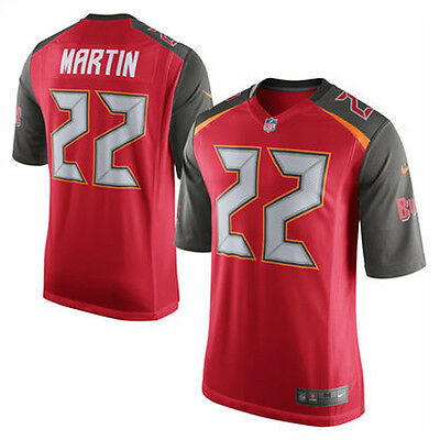 Nike NFL Tampa Bay Buccaneers Doug Martin American Football Game Jersey Red L