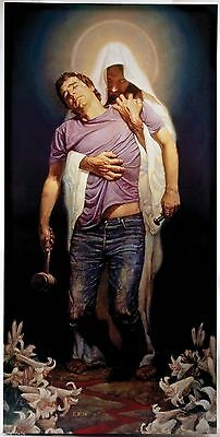 Blackshear The Forgiven HUGE OIL PAINTING MODERN Portrait WALL DECOR ART CANVAS