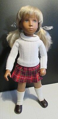 Full Centre Part Blonde Sasha Doll, Kilt