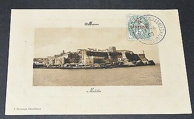 Cpa Carte Boussuge 1909 Colonies France Afrique Maroc Maghreb Melilla