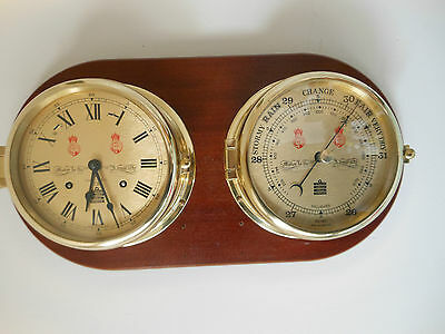 Sewills Brass Ships Clock and Barometer