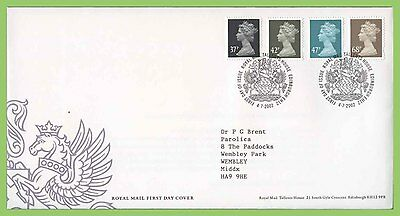 G.B. 2002 four definitives on Royal Mail First Day Cover, Tallents House