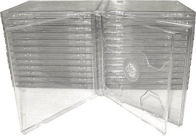 25 STANDARD Clear Double CD Jewel Case - CD2R10CL