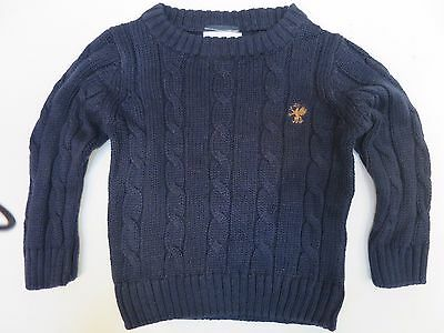 Boys Jumper knitwear ex store NEXT baby 3 6 9 12 18 months navy cable NEW!