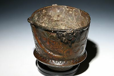 Ancient Islamic Copper Cup With Spout Antiquities
