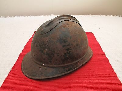 Vtg Antique Wwi French Russian Cavalry Helmet Denty Leather Liner Int