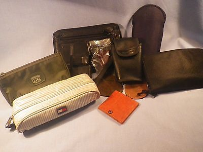 Hermes, Hilfiger small pouches, leather coin holders collection ++ Huge lot