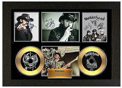 Motorhead - A3 Signed Framed Gold Vinyl Collectors Cd Display Picture