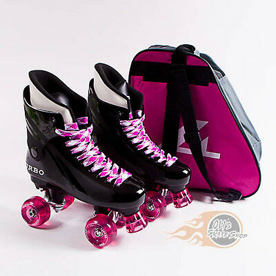 Ventro Pro Turbo Quad Skate, Bauer Style - Pink - With Skate Bag