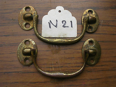 Pair Of Antique Brass Box Handles • £12.00