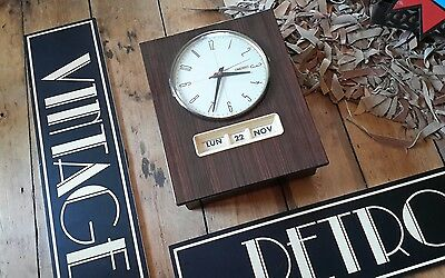 Vintage retro 1960 1970 french perpetual calendar wall clock