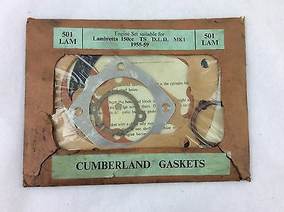 BNOS VINTAGE 50s CUMBERLAND GASKETS FOR LAMBRETTA 150 SCOOTER