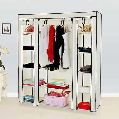 "Wardrobe Organizer Storage Clothes Closet Songmics 59"" Portable ULSF03M"