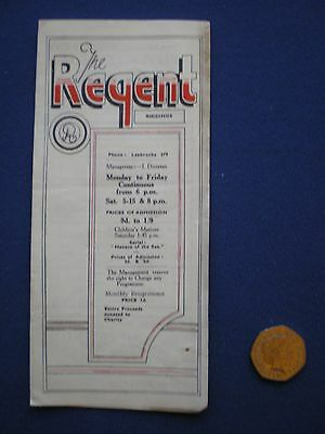 Riddings, Derbyshire  - The Regent Cinema - Whats on Brochure...February 1947