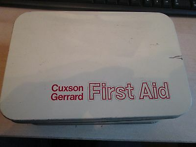 Vintage Original Cuxson Garrard First Aid Tin With Contents