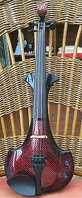 Bridge Aquila 4/4 Violin In Custom Paint Matrix Red With Hard Case And Bow