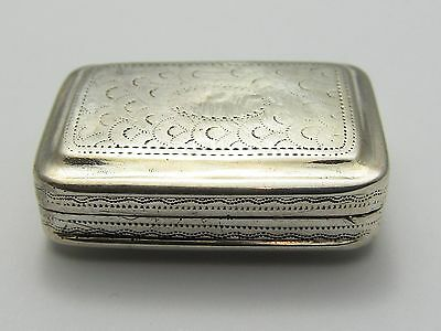 Solid Silver Antique Georgian  Vinaigrette John Shaw - 1811