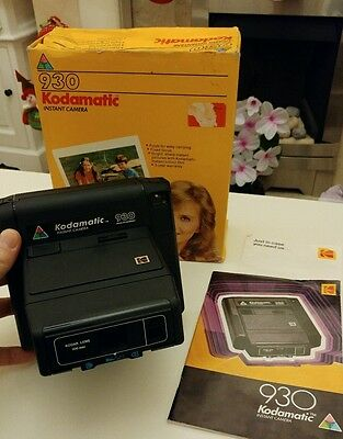 Retro KODAK 930 Kodamatic INSTANT CAMERA with box and instructions lomo