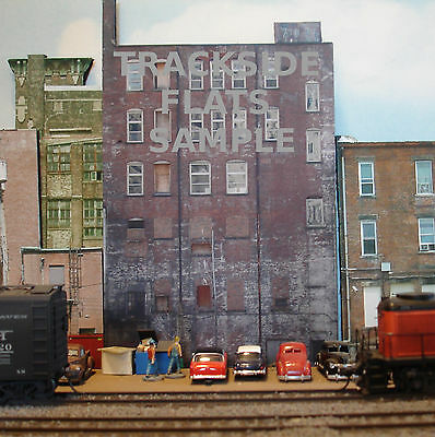 #301 O scale background building flat  BACKSIDE #1  FREE SHIPPING
