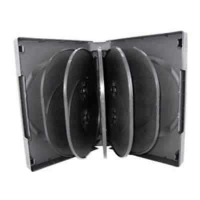 Mediaxpo Brand 10 Black 12 Disc DVD Cases