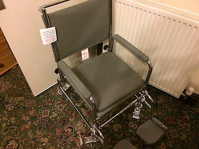 Nrs Wheeled Commode Wheelchair M66119 Height Adjustable Blackpool Collection