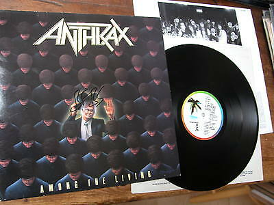 1986 vinyl LP  ANTHRAX  AMONG THE LIVING  ISLAND ILPS9865 A1B1 EXCELLENT NM