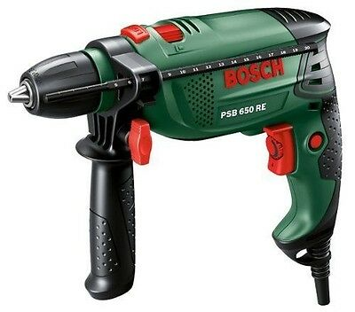 New Bosch PSB 650 RE Hammer Drill Driver with Keyless Chuck Fast Free P&P
