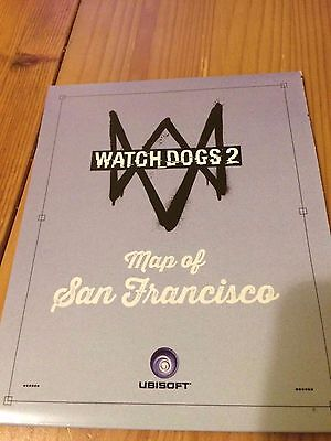 WATCH DOGS 2 Collectors Edition San Francisco Map