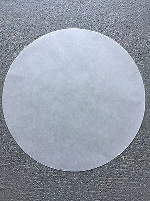 """75 ct. 9"""" Parchment Paper Cake Circle White  Round Pan Liner"""