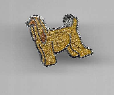Vintage Afghan Hound small old cloisonne lapel pin