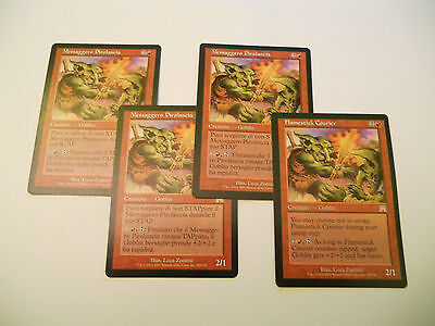 4x MTG Messaggero Pirolancia-Flamestick Courier Magic EDH ONS Assalto ITA-ING x4