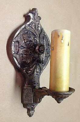 Antique electric wall sconce lamp, candle style