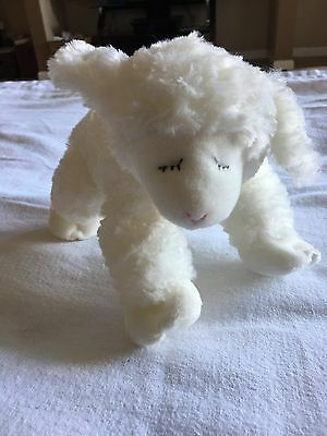 Baby Plush Gund Winky White Lamb Sheep Rattle Stuffed Animal Nursery