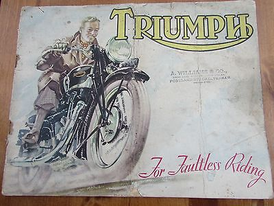 Vintage Triumph for Faultless Riding 1936 Motorcycle Sales Brochure