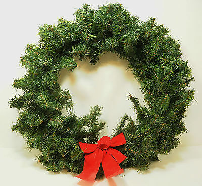 """24"""" Green Evergreen Realistic PINE Garland Undecorated CHRISTMAS WREATH"""