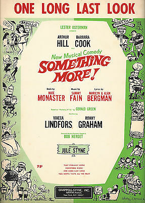 """Barbara Cook """"SOMETHING MORE!"""" Sammy Fain 1964 Musical FLOP Tryout Sheet Music"""
